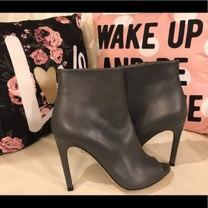 Again & Again Grey Ankle Boots